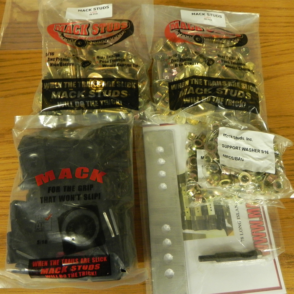Snowmobile Traction Packages - Traction Products - Stud Packages - Mack Studs